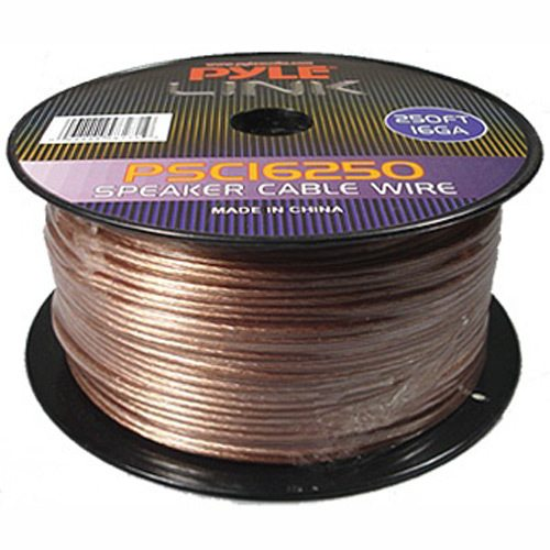 High Quality Speaker Wire : Pyle link gauge feet spool of high quality speaker